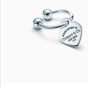 Authentic Tiffany sterling silver key ring